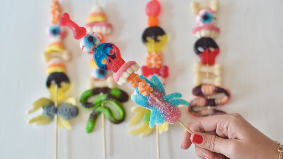 Halloween Candy Skewers Hero