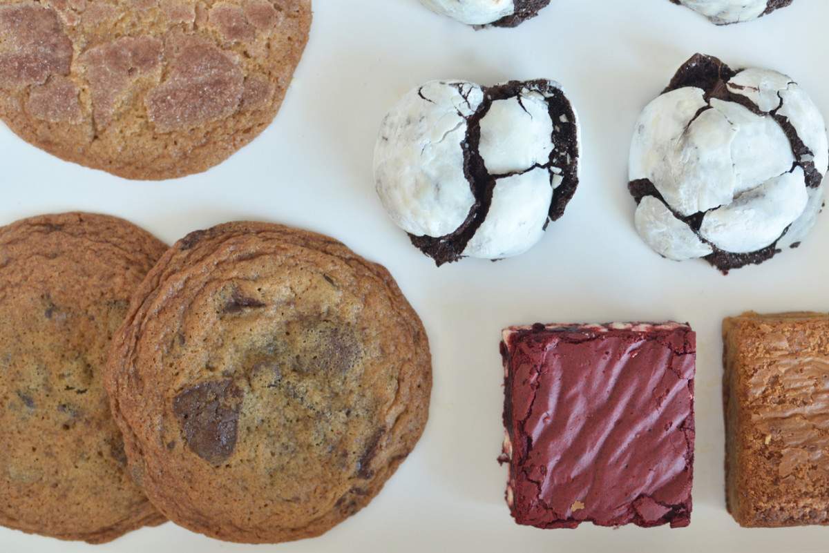 {Mid-day treats in the office to fuel an editorial meeting}