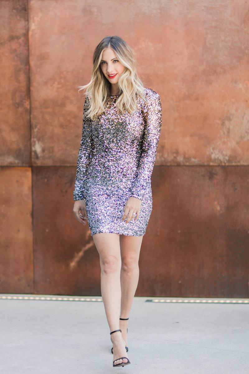 Dress the Population Dress, Zara Heels (similar here), NARS Lipstick in 'Light My Fire'