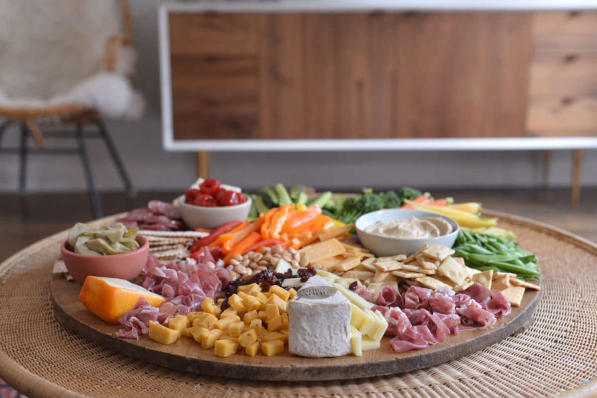 {Perhaps my most epic cheese/charcuterie/crudités board yet}