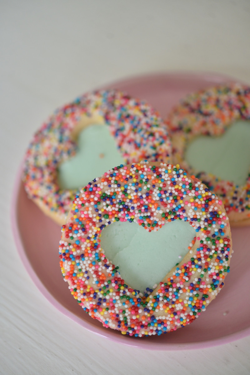 {A weekly treat: picking up special cookies for Sloan and me}