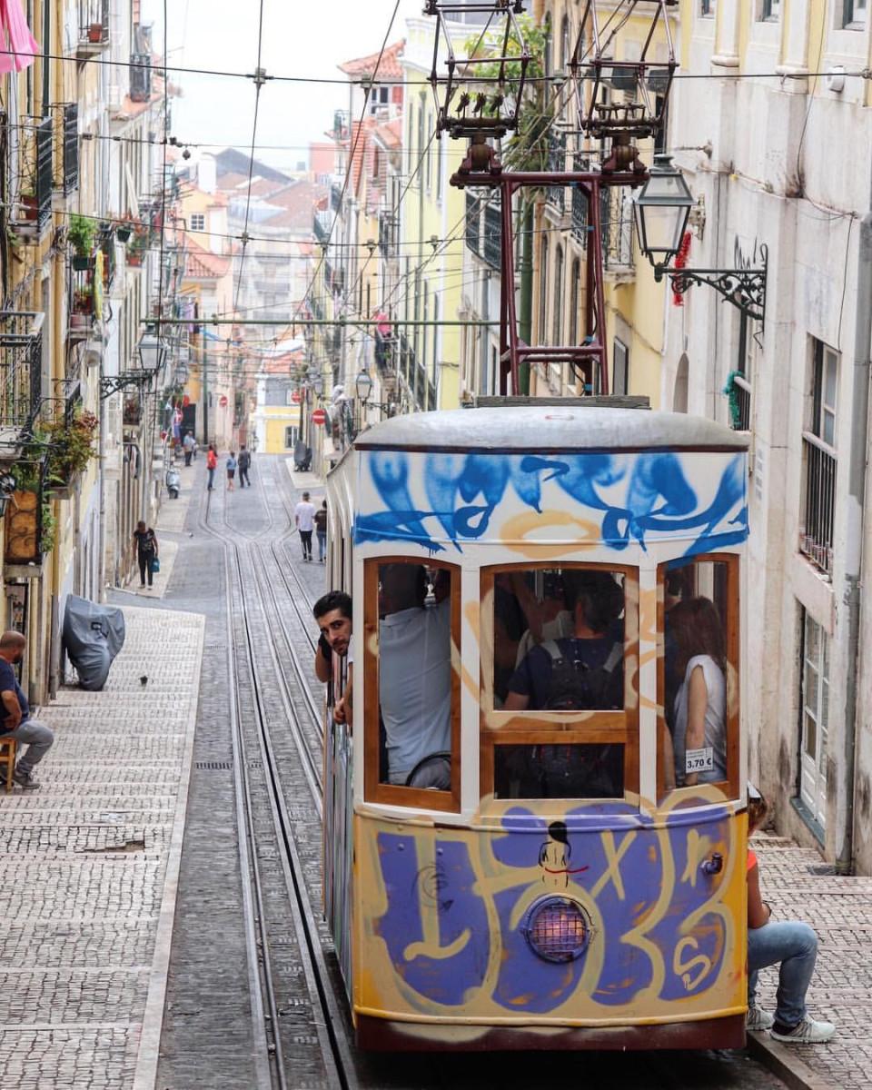 Trolley in Lisbon, Portugal