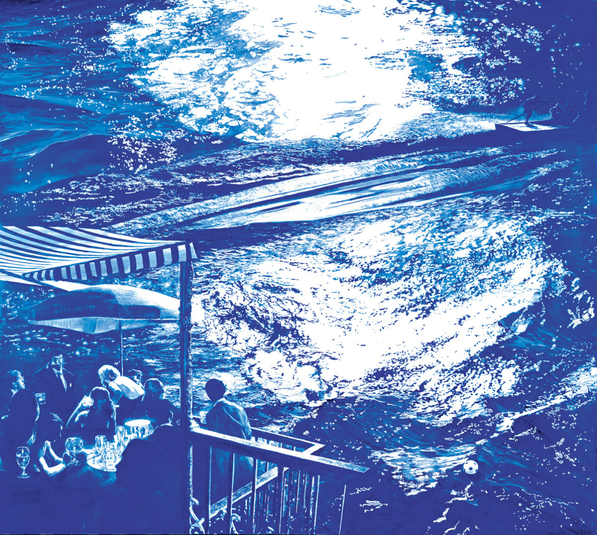 Wake by Mark Tansey, 2003 (image via The Broad Museum)
