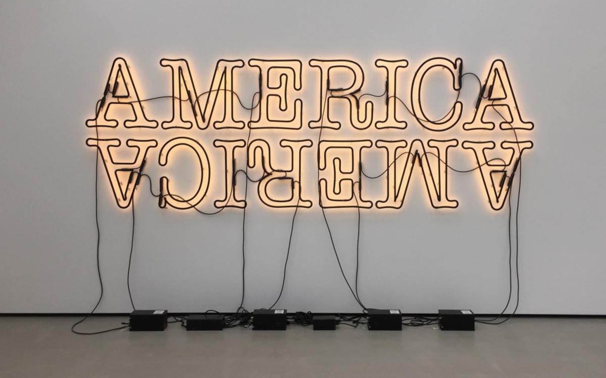 Double America by Glenn Ligon, 2006 (Image via Culture Shock Art)