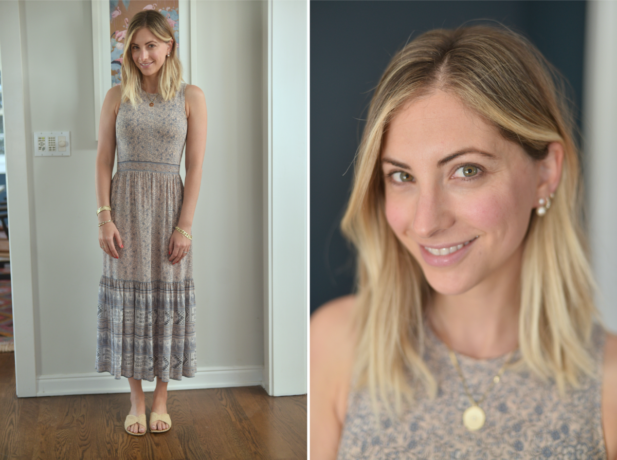 Wednesday: Ulla Johnson Dress (same brand here), Carrie Forbes Sandals, Tai Earrings