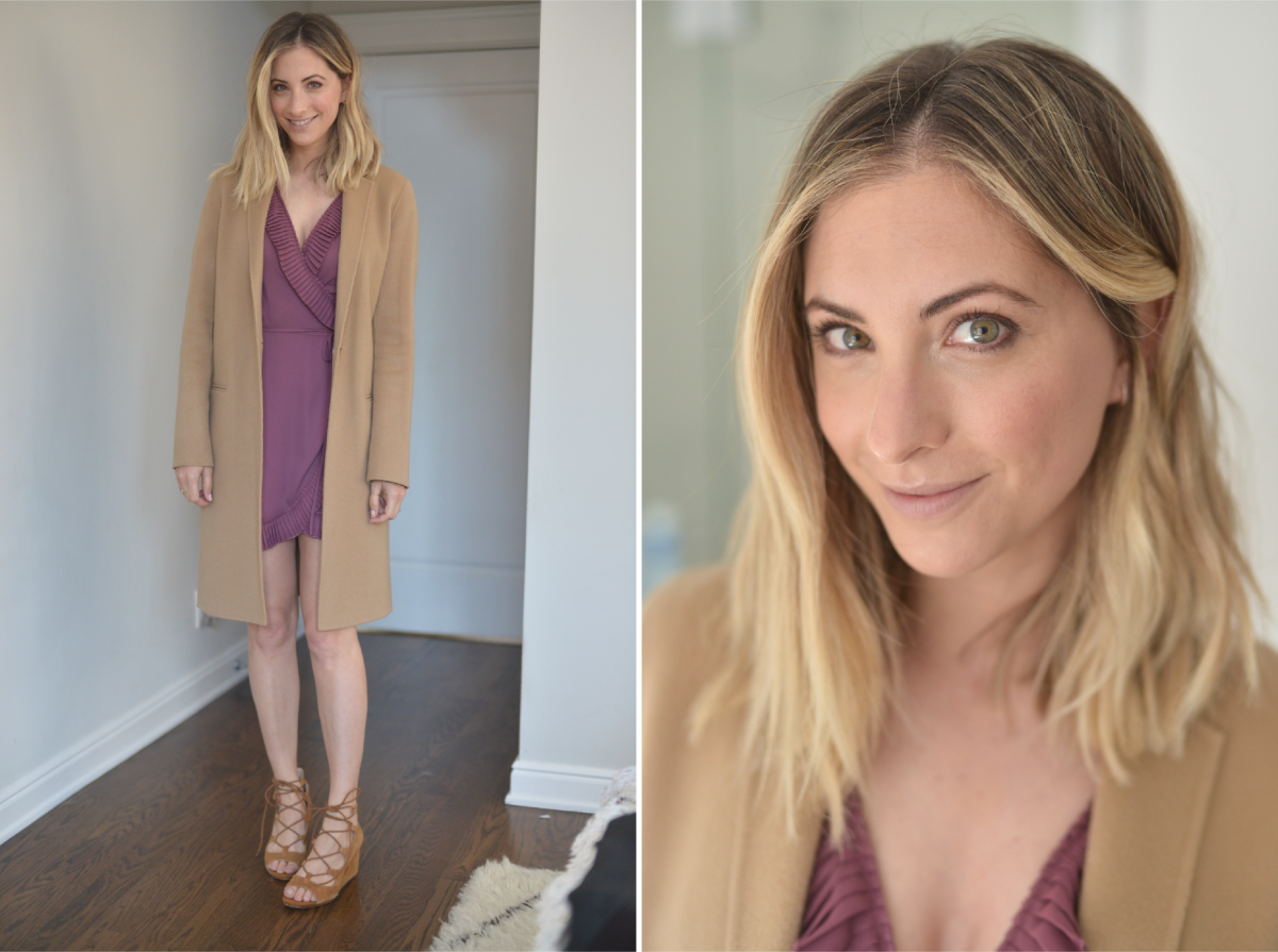 Thursday: Theory Coat (similar here), Delfi Dress (similar here and here), Zara Sandals (similar here)