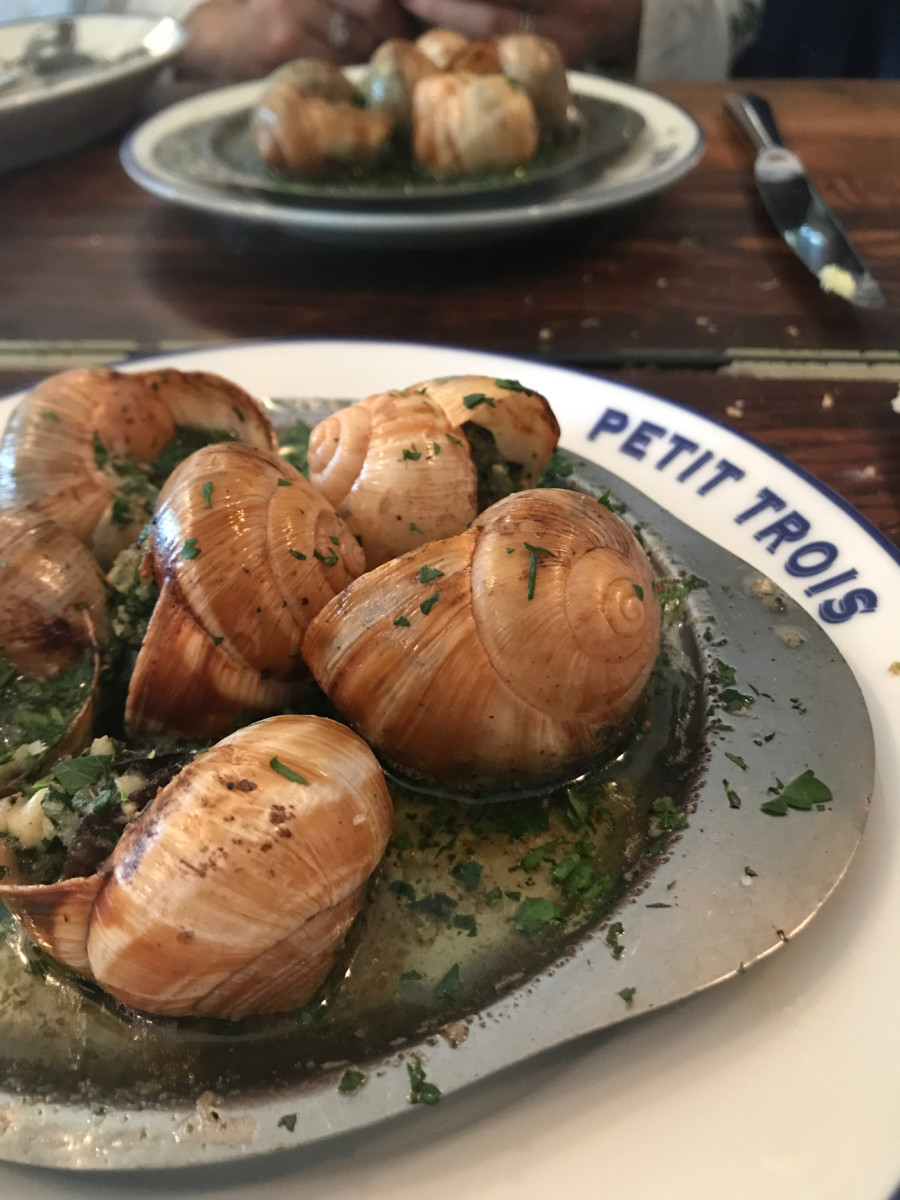 {My first experience with escargot was a success!}
