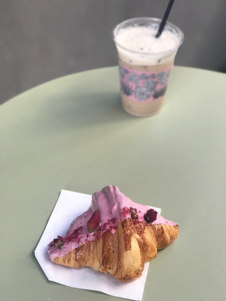 {The prettiest croissant in the city, from Alfred Tea Room}