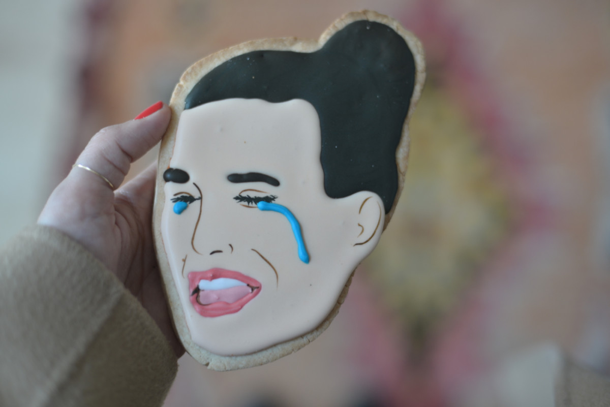 {An Ashley I. crying cookie - which sums up my feelings about the Bachelor ending}