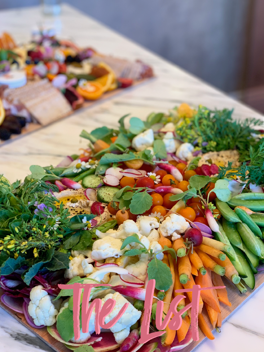 Lady & Larder created the crudité board of my dreams for our event last week with The Little Market