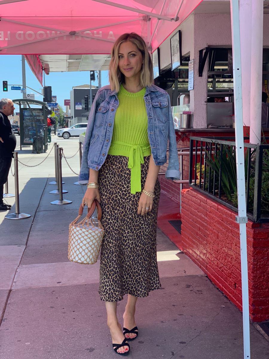 Tuesday: Madewell Jacket, J.O.A. Top, Three Dots Skirt (similar here), Staud Bag, Miu Miu Shoes (similarhere)