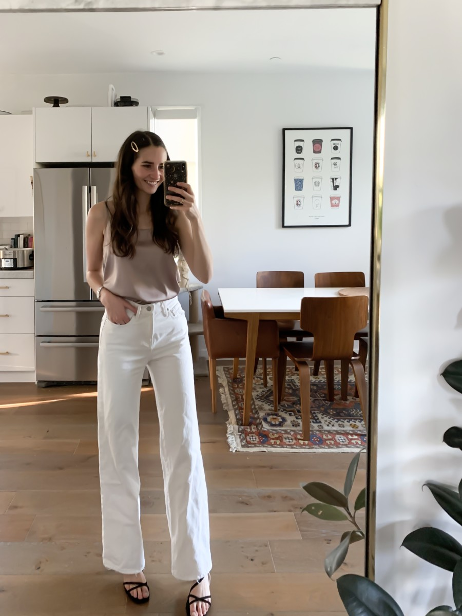 Grade + Gather Camisole, ABLE Denim, Zara Heels
