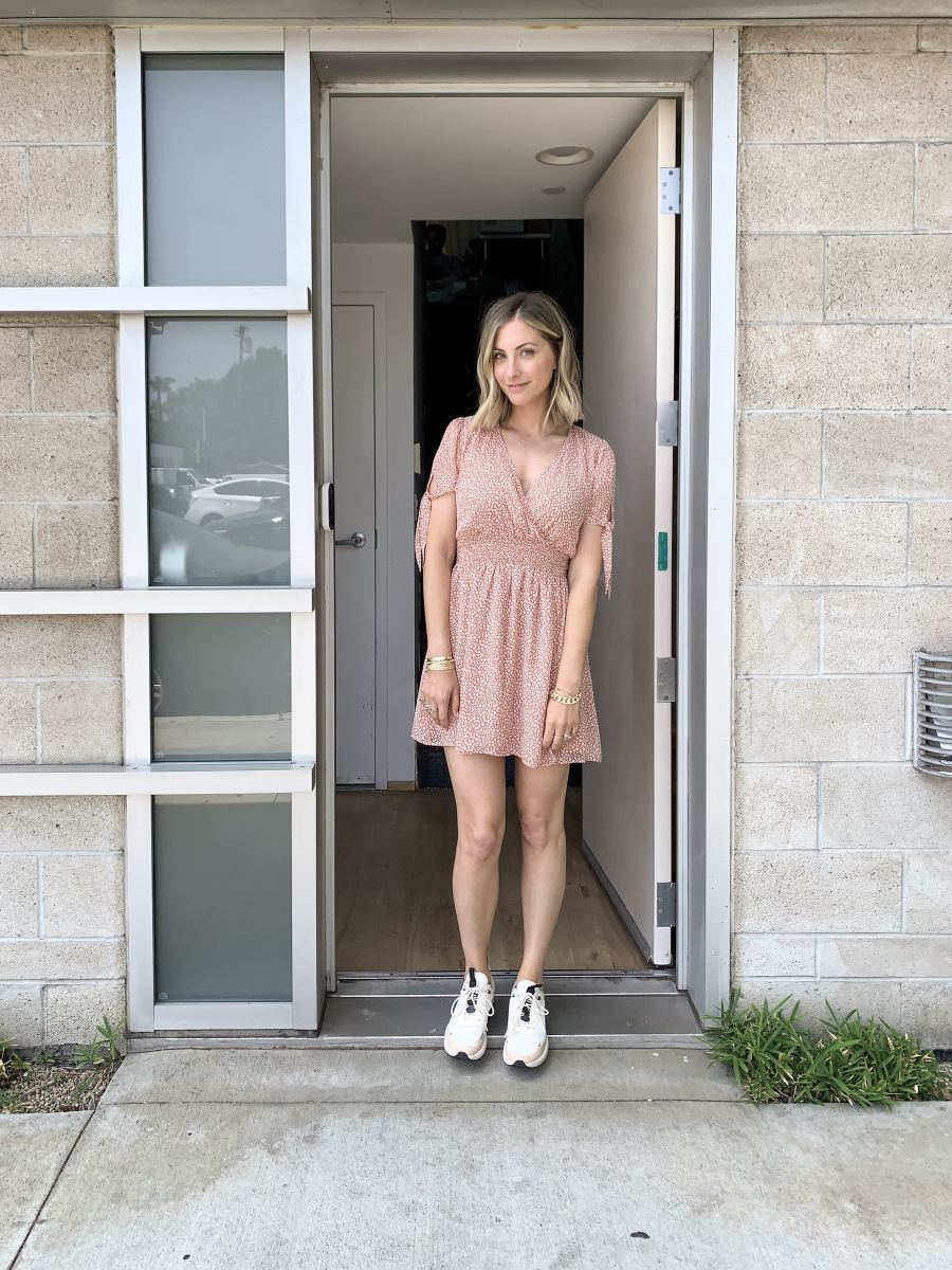 Tuesday: Sage the Label Dress, Nike Sneakers