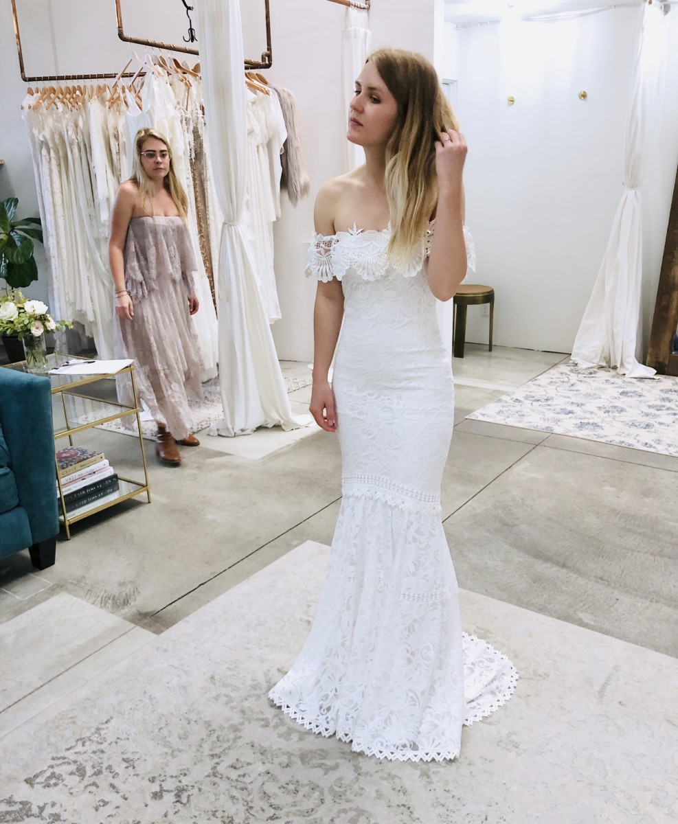"""Dress #5, the """"Cien"""" dress, right before I bought it."""