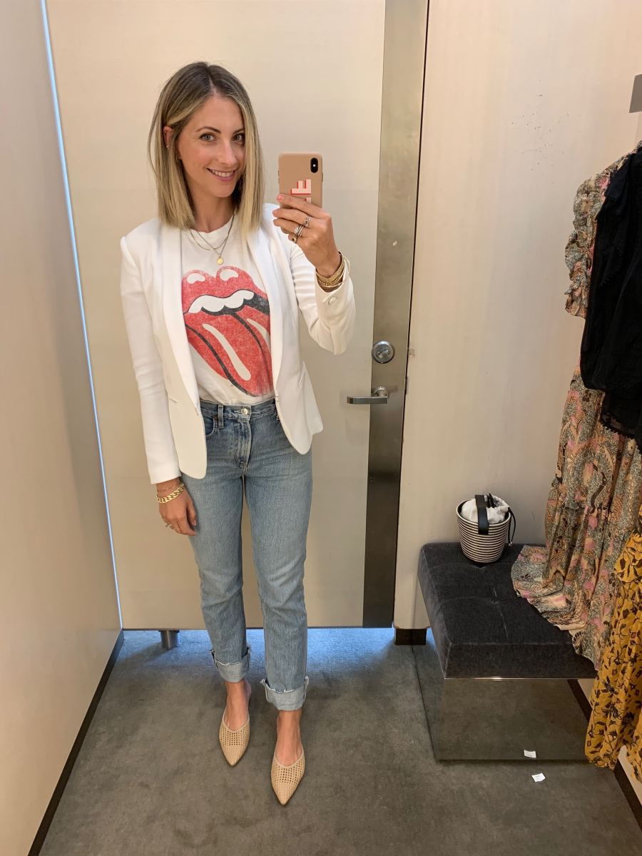 Thursday: Rag and Bone Blazer (similar here), Daydreamer Tee, AGOLDE Jeans, Cupcakes and Cashmere Shoes