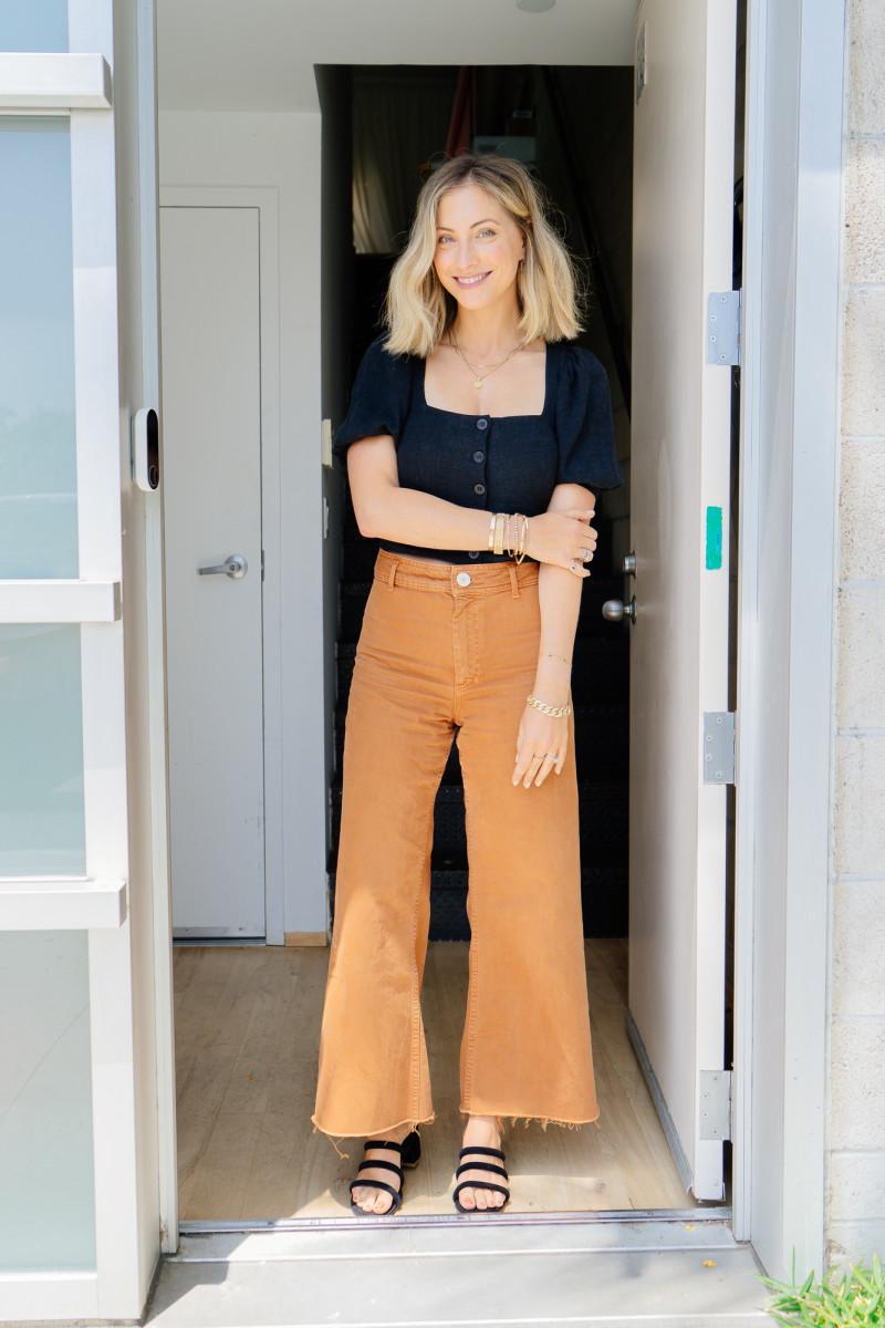 Thursday: Rachel Pally Top, Zara Pants (similar here), Charlotte Stone Sandals (similar here)