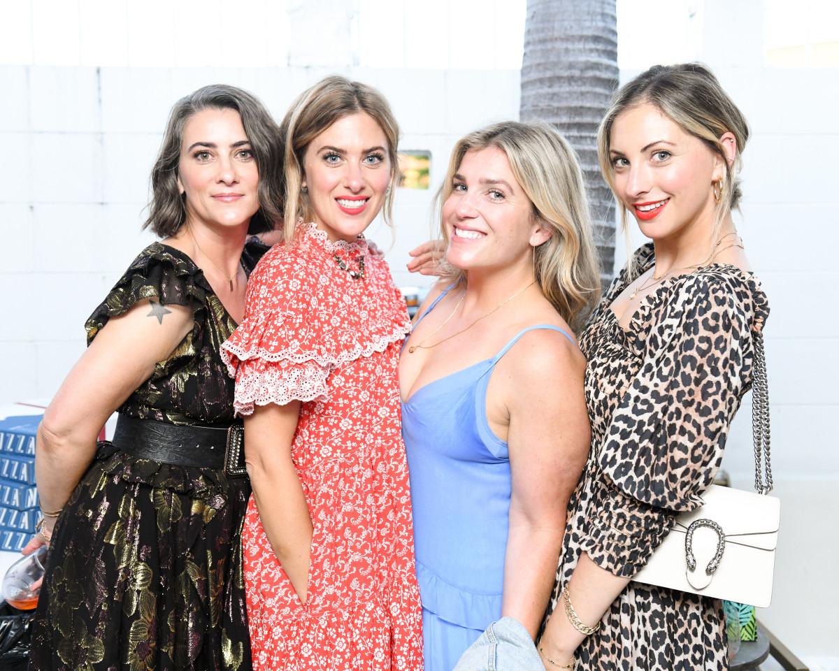 C&C Shop Earrings, Ganni Dress, Gucci Purse, Laura Mercier Caviar Stick in 'Fire'