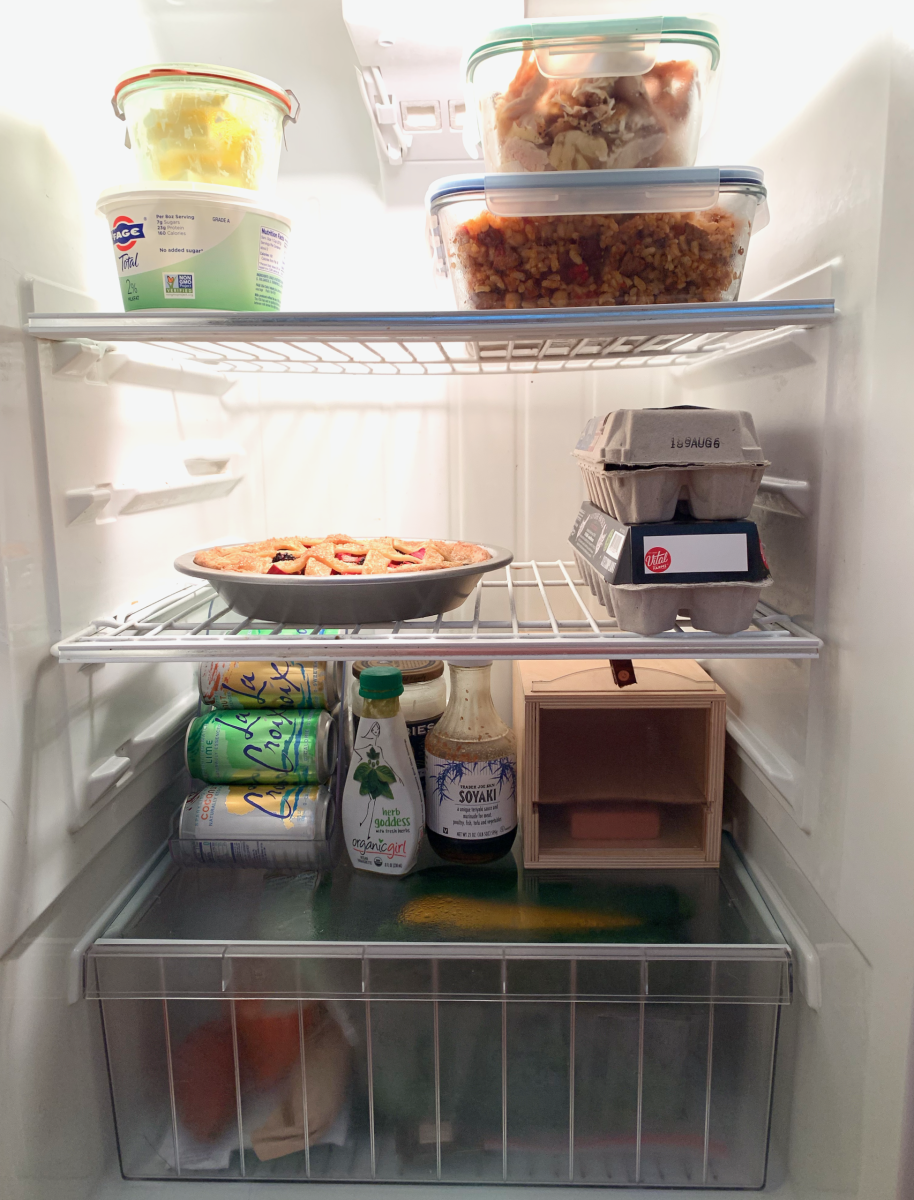 Our fridge, taken on Sunday evening after meal-prepping