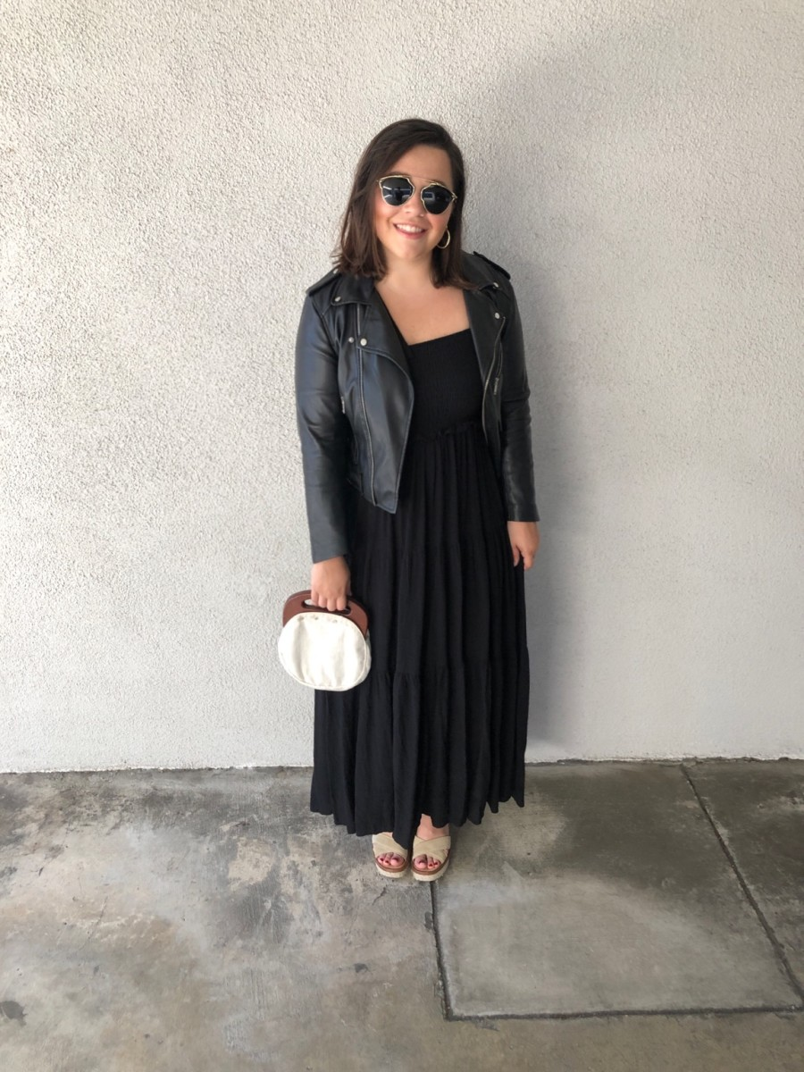 Tuesday: Dior Sunglasses, C&C Shop Earrings, Zara Jacket (similar here), Zara Dress, Joie Platforms (similar here), Vintage Bag (similar here)