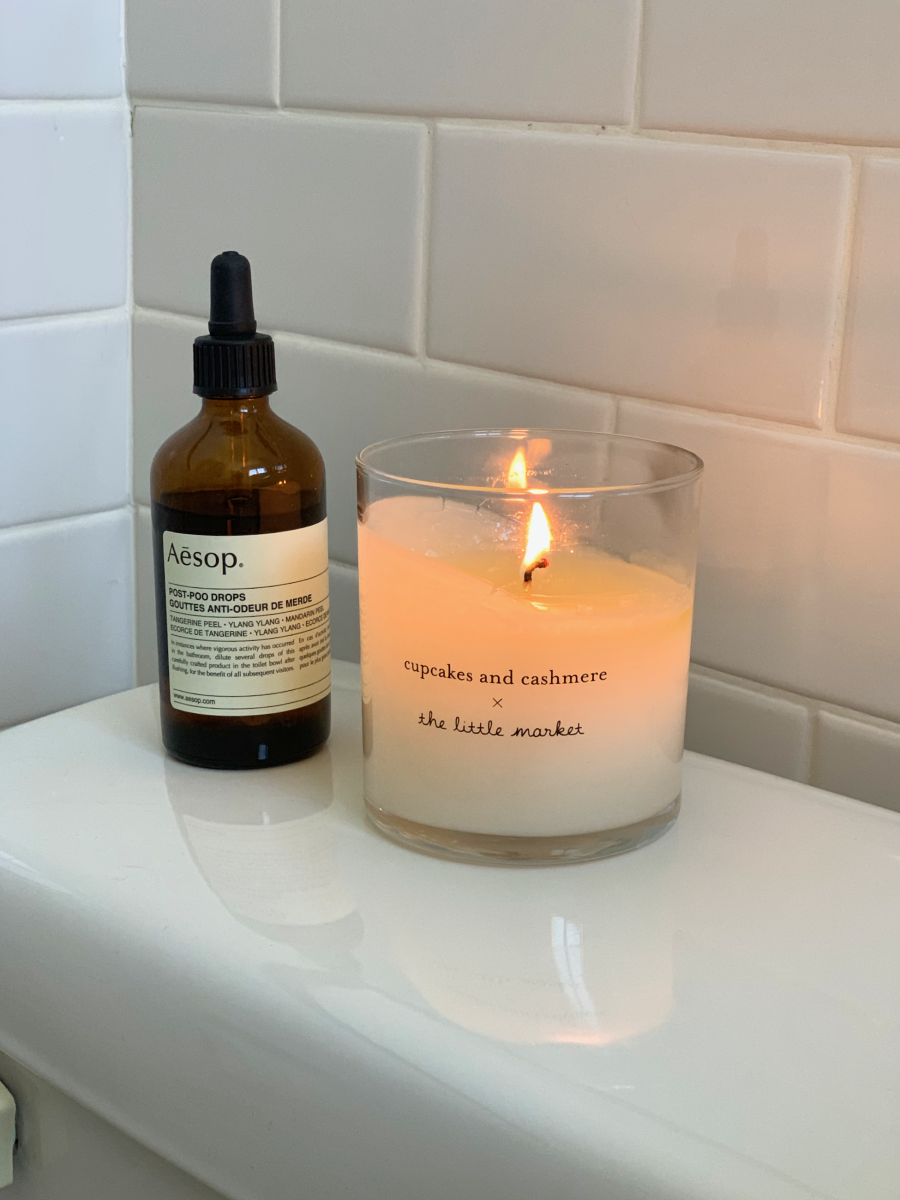 Aesop Post-Poo Drops, Cupcakes and Cashmere Candle