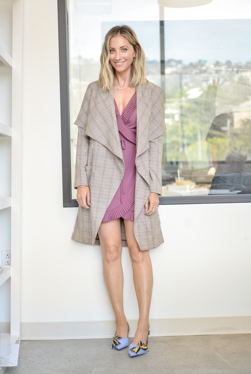 Thursday: Cupcakes & Cashmere Trench, DELFI Collective Dress (similar here), Prada Mules