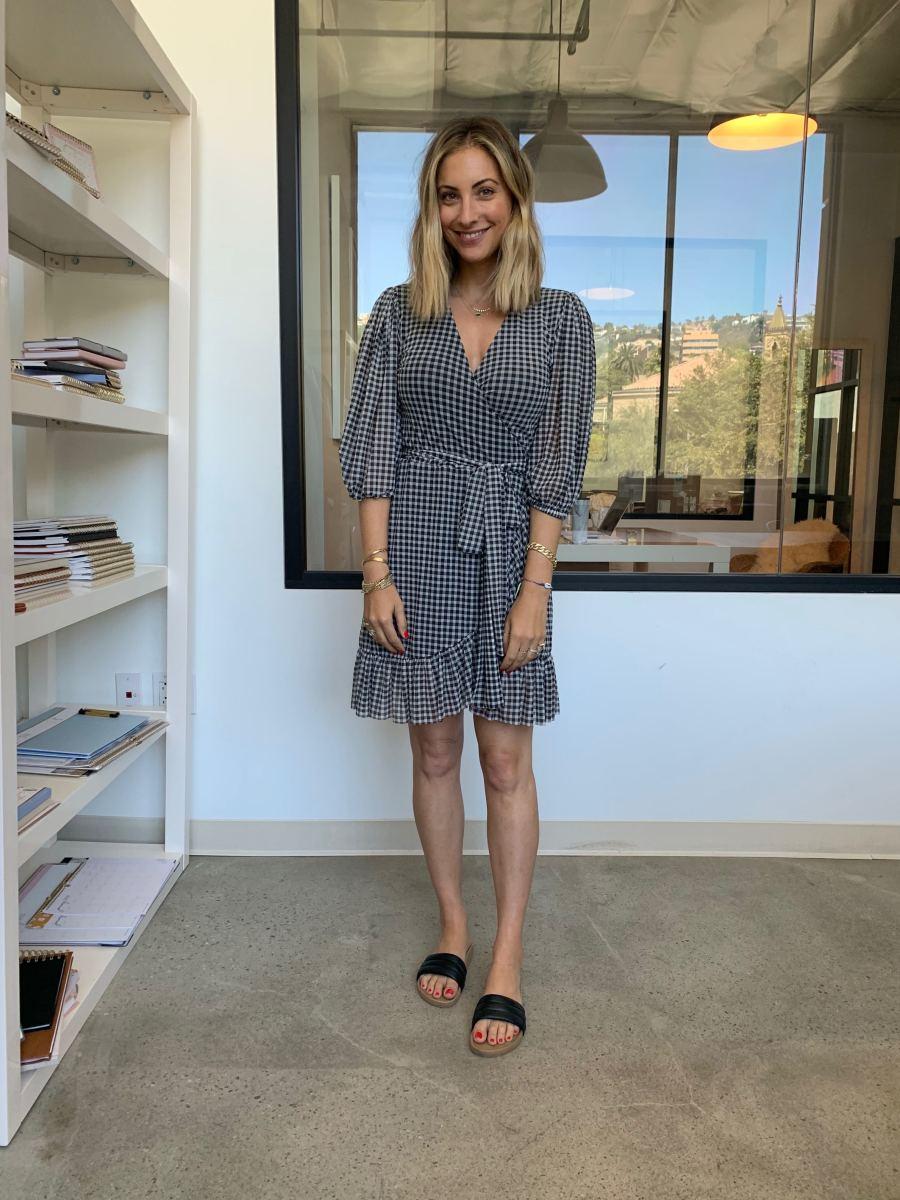 Thursday: Ganni Dress, Beatrice Valenzuela Slides