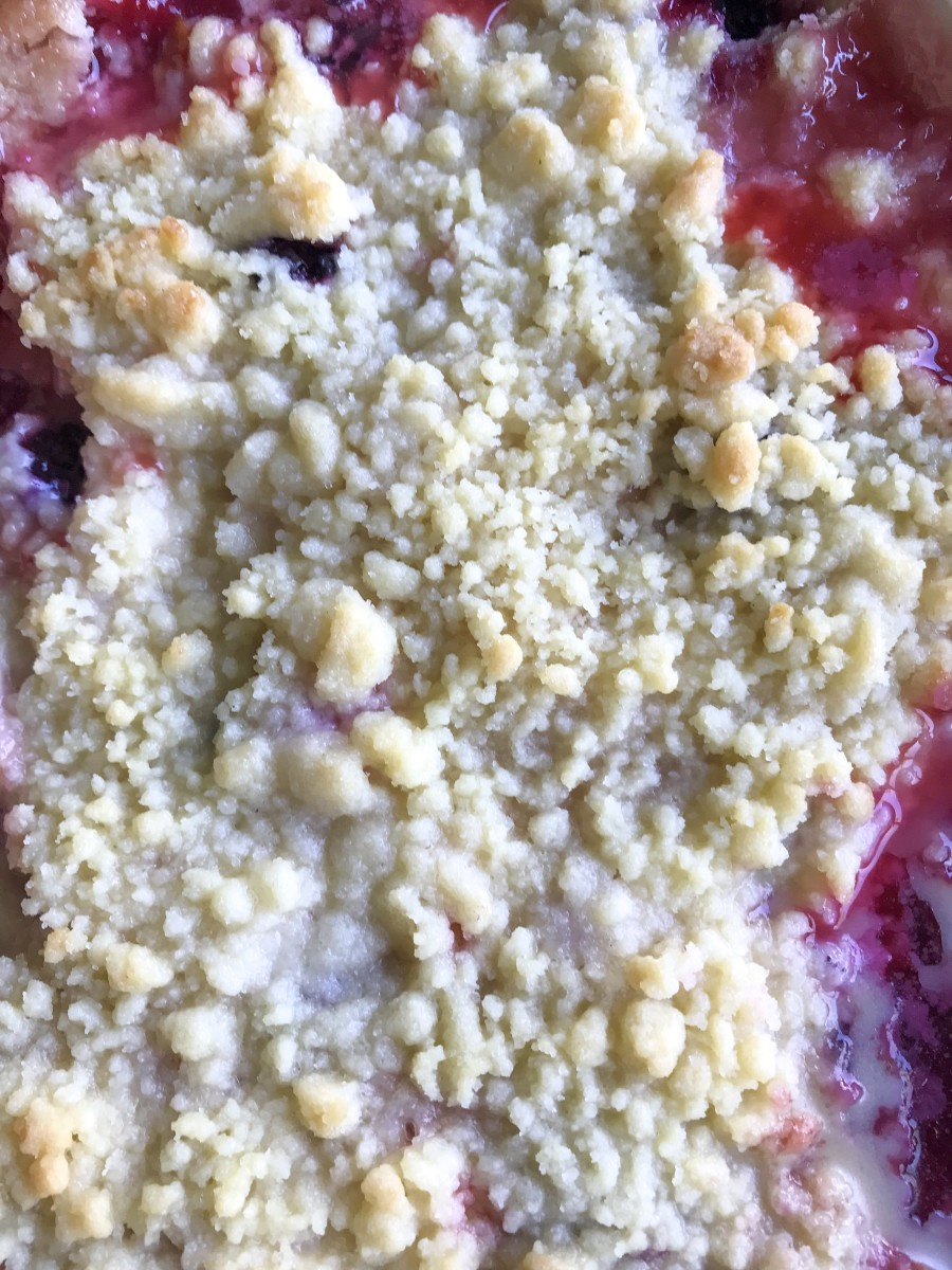 Nectarine & Blackberry Crumble
