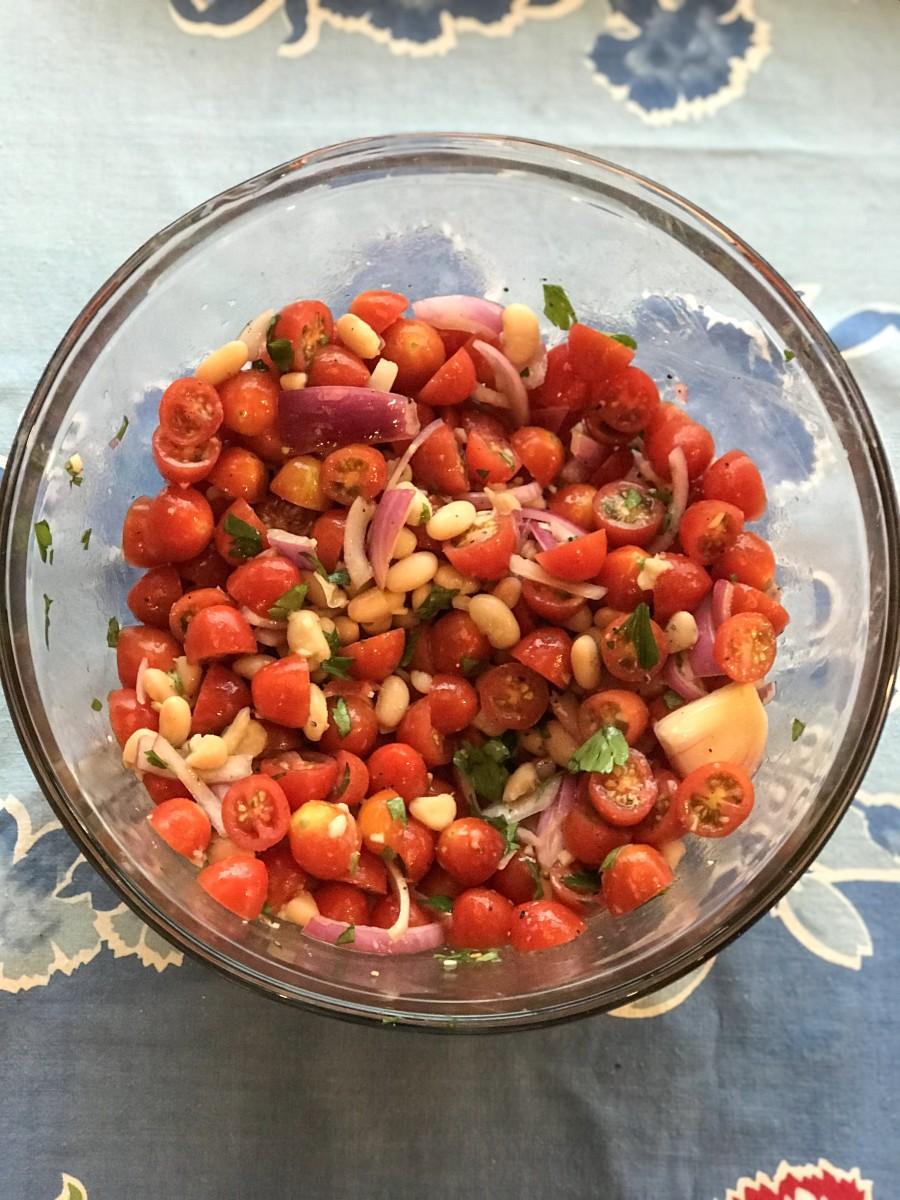 Cherry Tomato & White Bean Salad (NYT)
