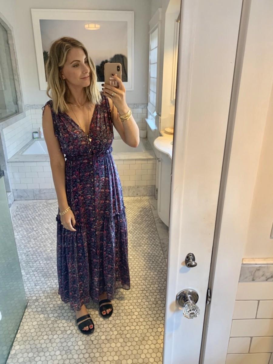 Thursday: Ulla Johnson Dress (similar here), Newbark Sandals (similar here)