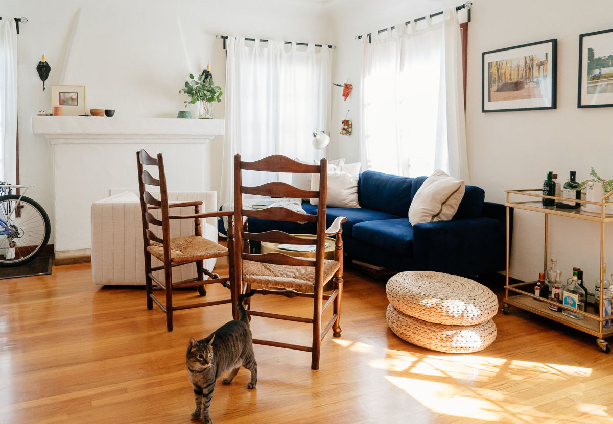 Vintage Chairs,IKEA Floor Pillows