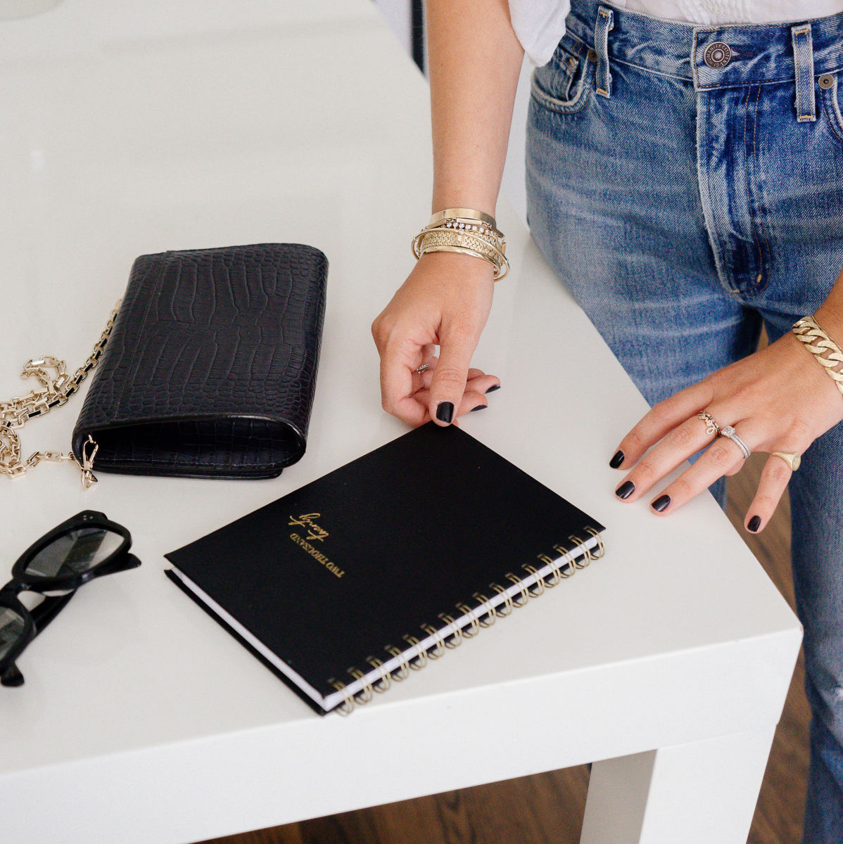 Spiral-Bound Black Leather(In-Store Only)