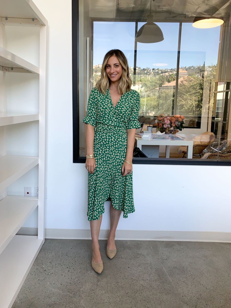 Monday: Ganni Dress (similar here), Cupcakes and Cashmere Mules