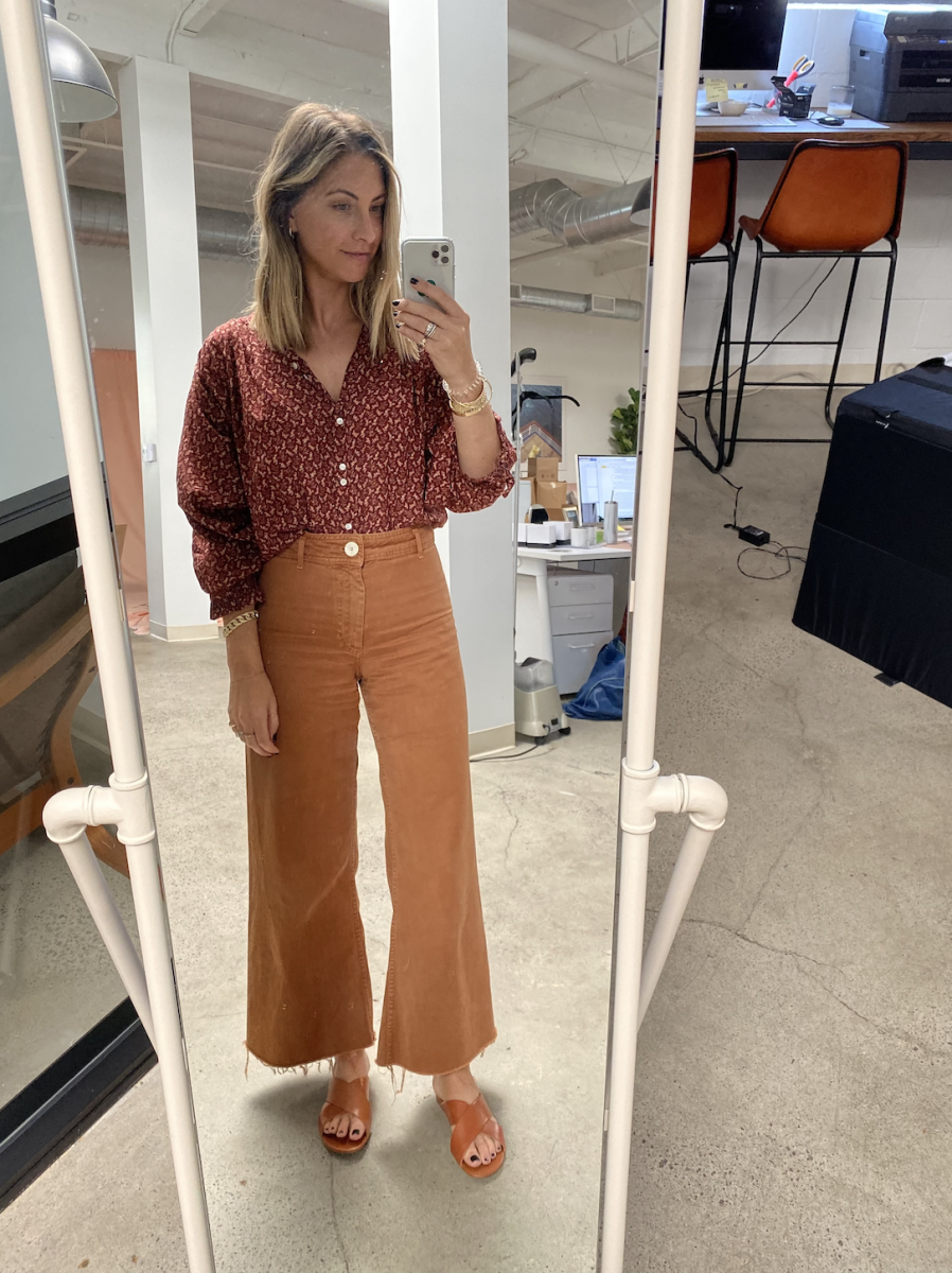 Tuesday: Doen Top (similar here), Zara Pants (similar here), Cupcakes and Cashmere Sandals
