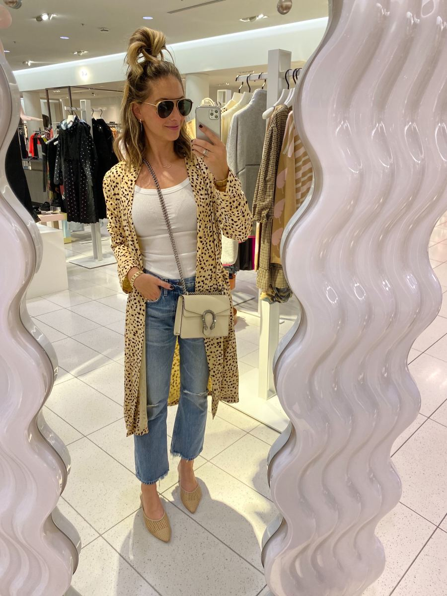 Friday: Amavii Sunglasses, Cupcakes and Cashmere Duster,Cotton Citizen Tank, Citizens of Humanity Jeans, Cupcakes and Cashmere Shoes, Gucci Purse