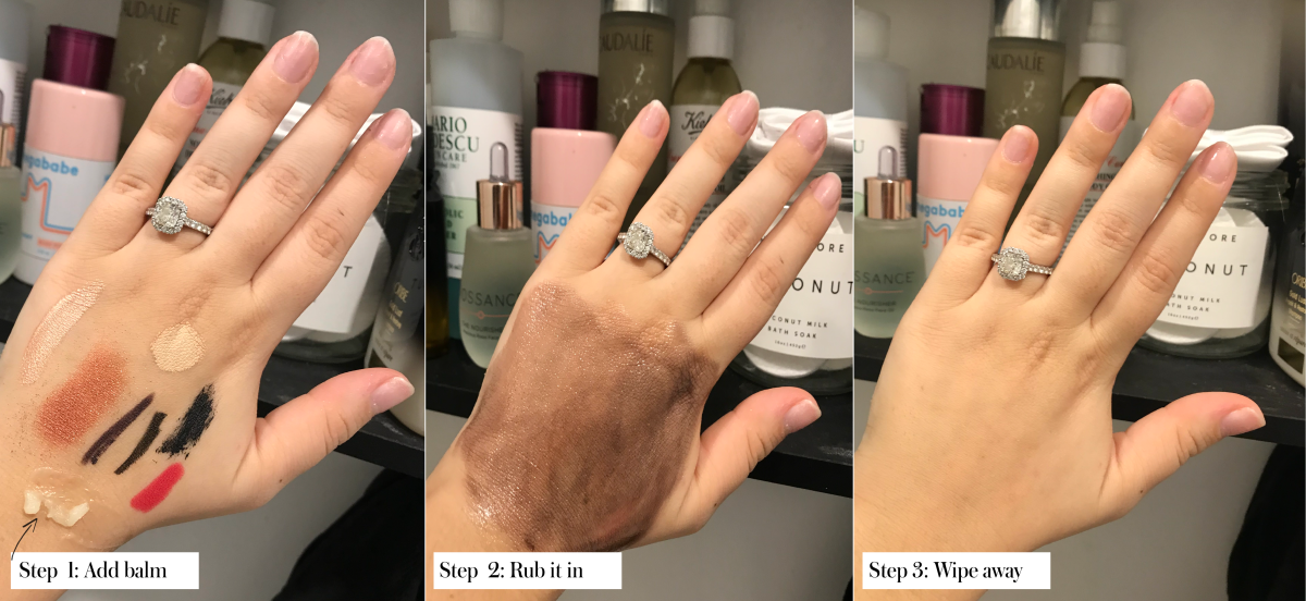 Using Goop's Luminous Melting Cleanser