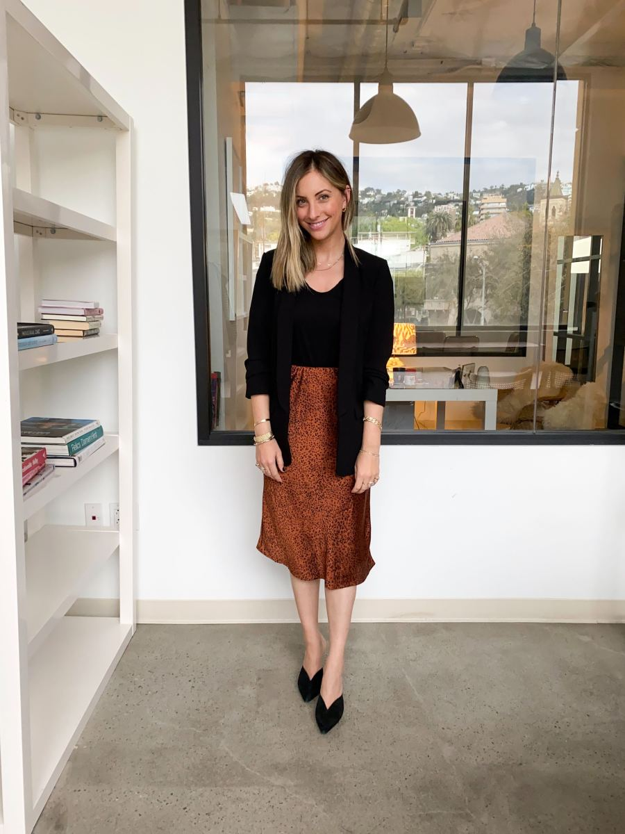 Tuesday: Zara Blazer(similar here), James Perse Top (similar here),Heartloom Skirt,Alexandre Birman Heels (similar here)