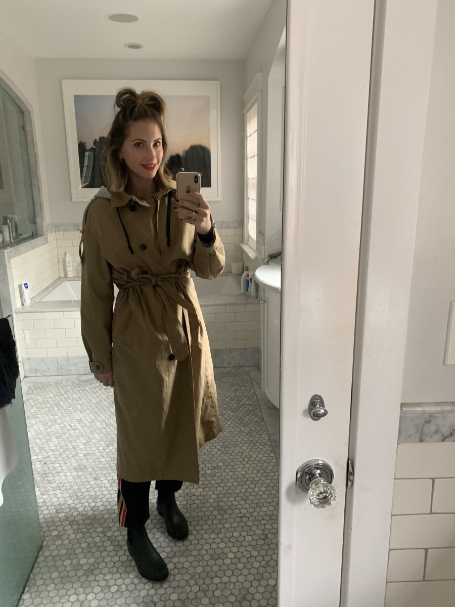 Monday: Zara Trench (similar version here), & Other Stories Pants, Sam Edelman Boots, Laura Mercier 'Clique' Lipstick