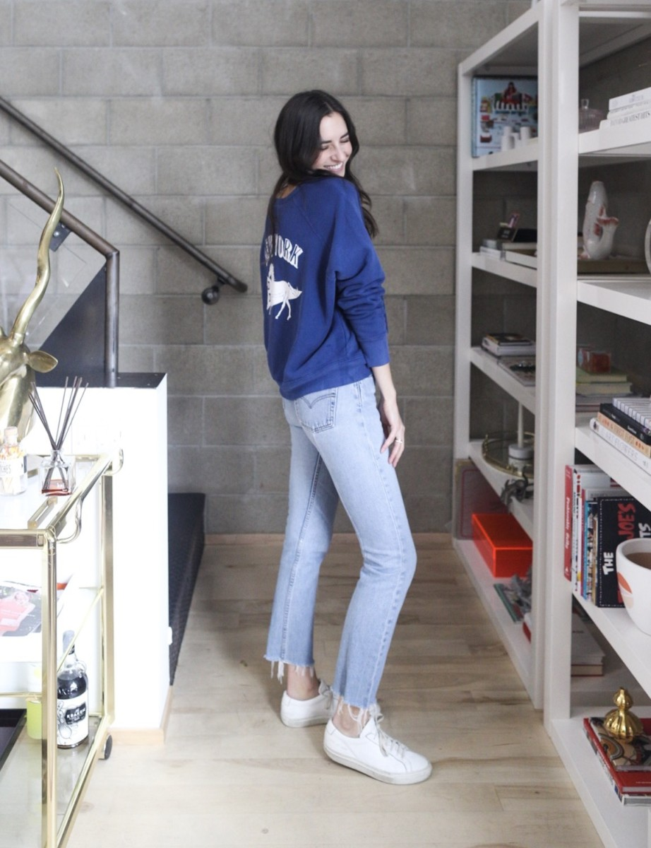 Daydreamer Sweatshirt, vintage Levi's, Common Projects sneakers (similar here)