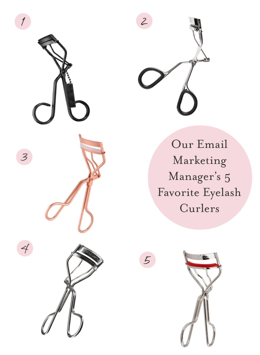 Our Five Favorite Eyelash Curlers - Cupcakes & Cashmere