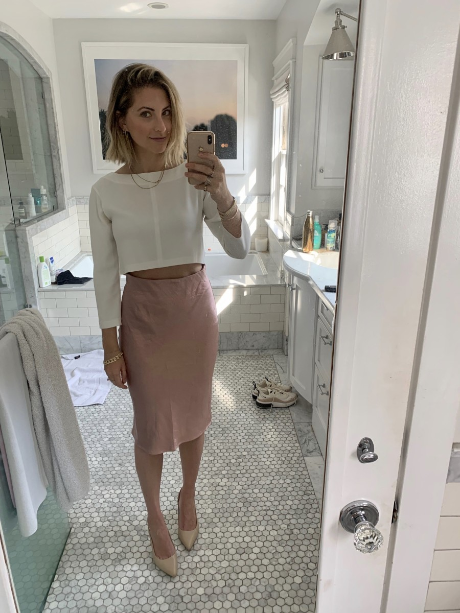 Tuesday: Club Monaco Top (similar here), Heartloom Skirt, Cupcakes and Cashmere Shoes