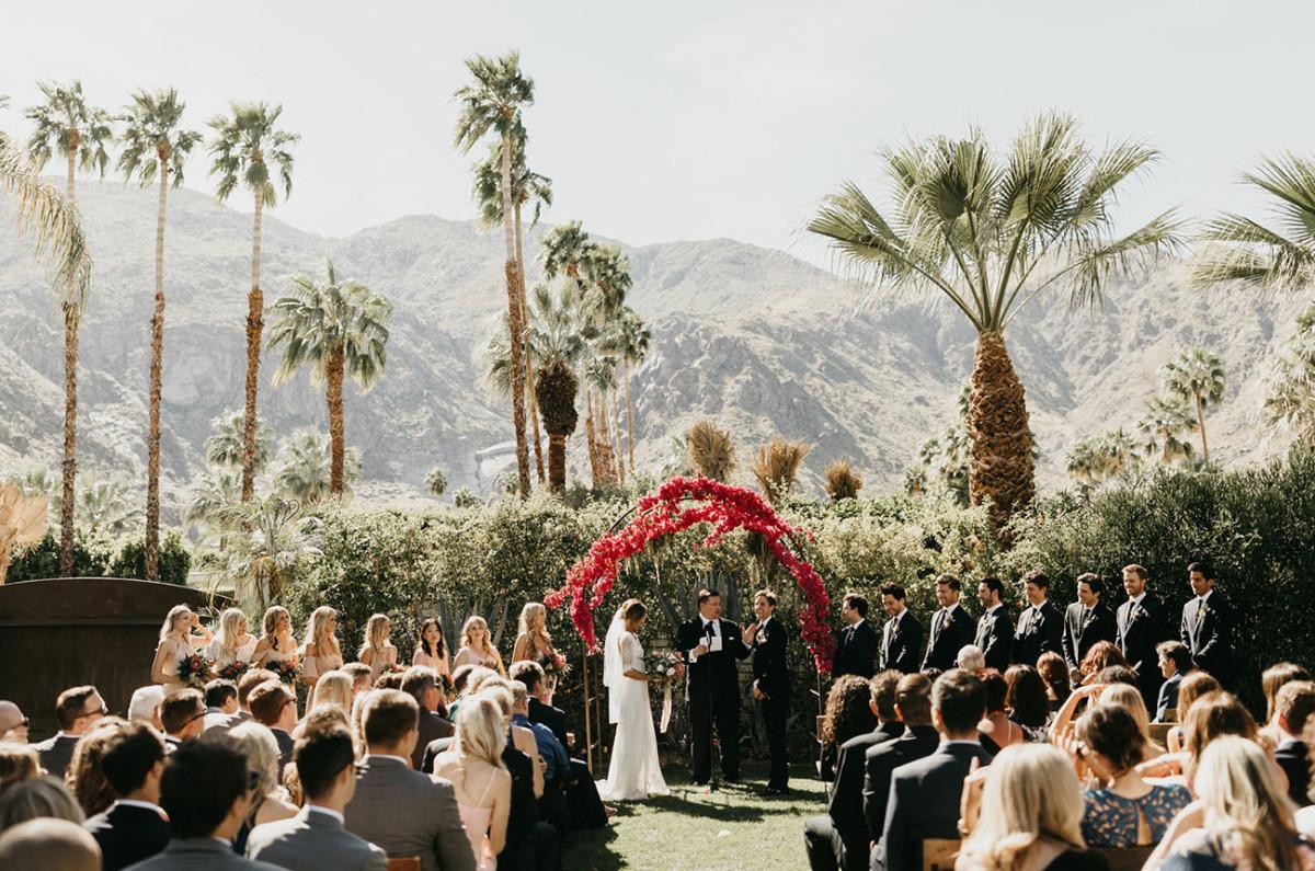 via Green Wedding Shoes, photo by Nicole Leever. Venue: Casa de Monte Vista