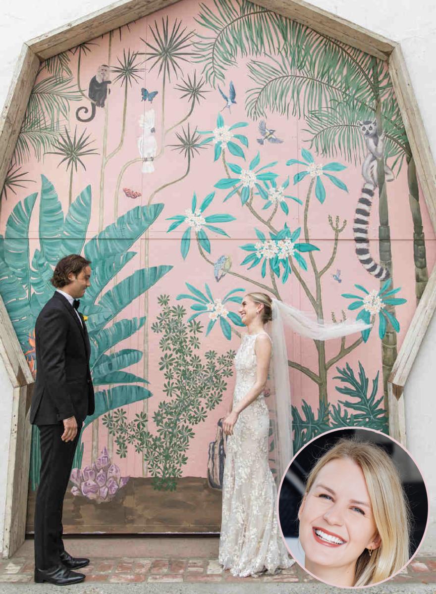 via Martha Stewart Weddings, photo by Katherine Ann Rose. Venue: Valentine DTLA