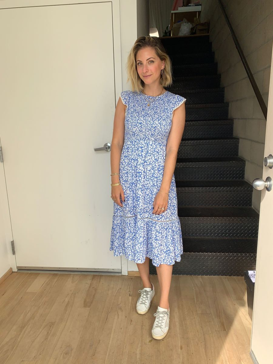 Monday: Lost + Wander Dress (sold out- sign up for the back in stock email to be notified first), Golden Goose Sneakers