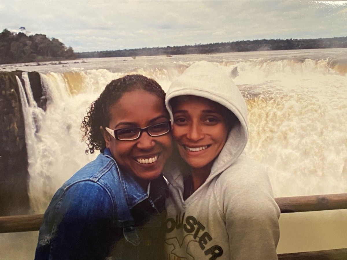 My best friend Judy and me at Iguazu falls (2007)