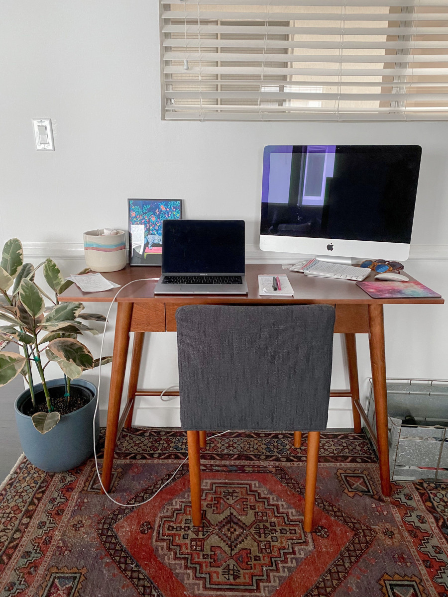 """I bought this desk and chair about two months pre-COVID, mostly just """"to have"""". If only I knew..."""