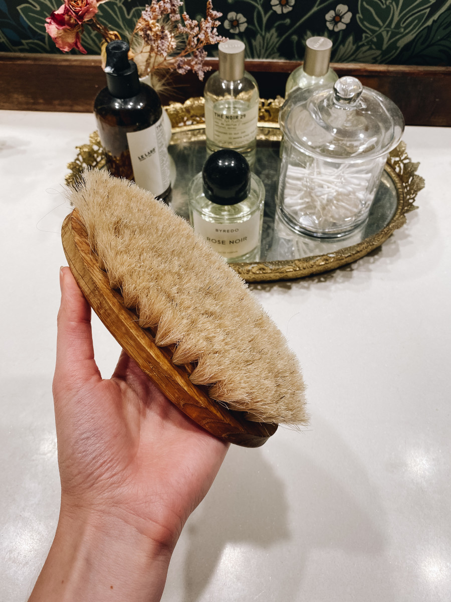 A dry brush a day keeps...my skin velvety smooth.