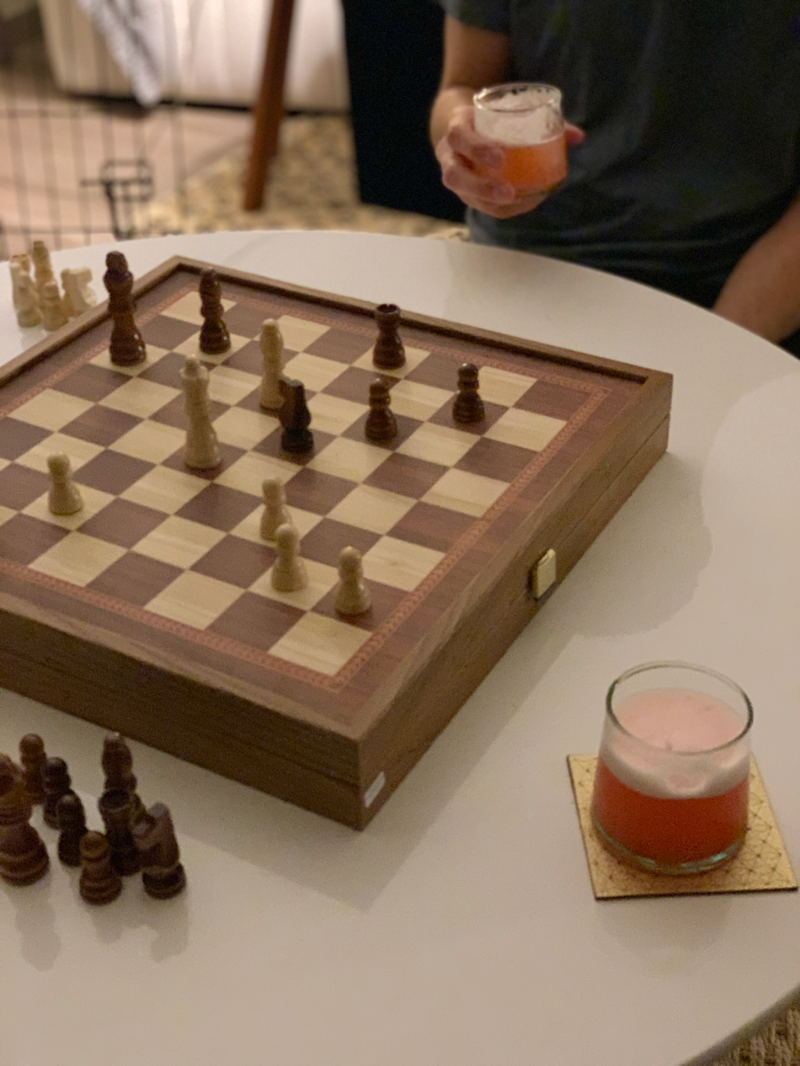 Somewhat related: Jonah bought us this chess board for our anniversary, and we've been playing most nights—the inlaid wood is stunning, and I get to pretend I'm Beth Harmon.