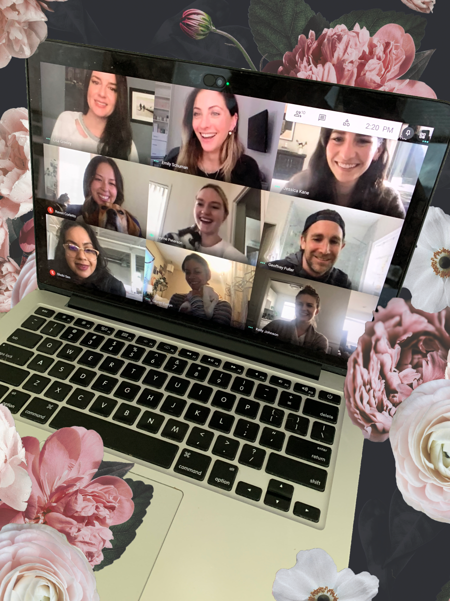 Our daily video call is the closest we get to a team photo these days!