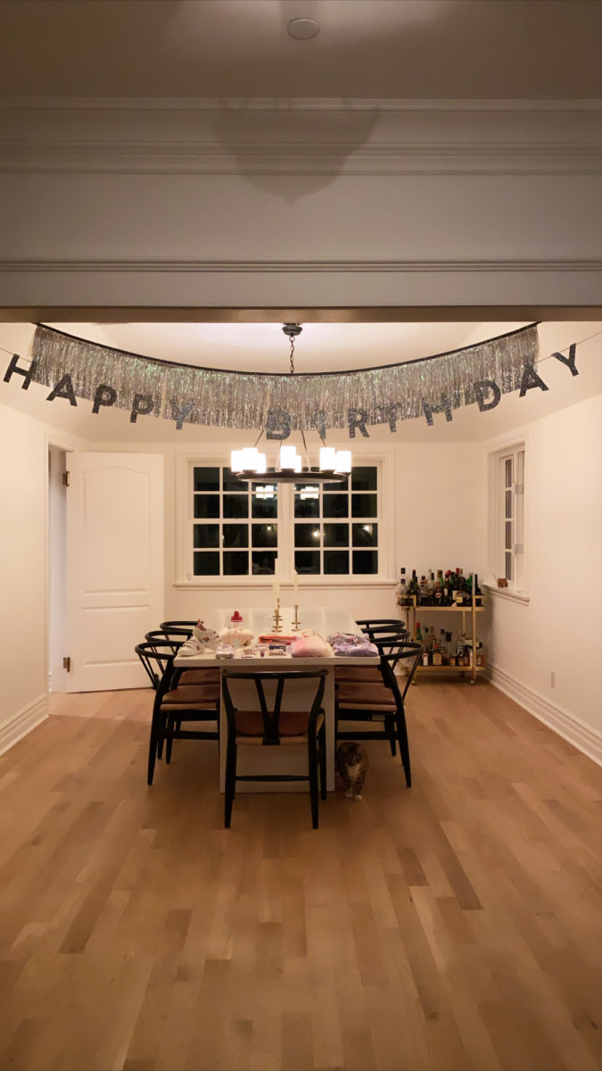 To be fair, the 'Happy Birthday' banner wasn't a permanent addition, but this gives you a good idea! (This is from Sloan's fifth birthday, a year ago!)