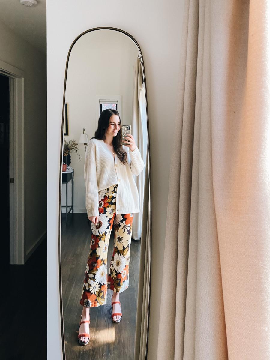 Jenni Kaye Cardigan, Vintage corduroy pants (similar here), Rachel Comey sandals (similar here)